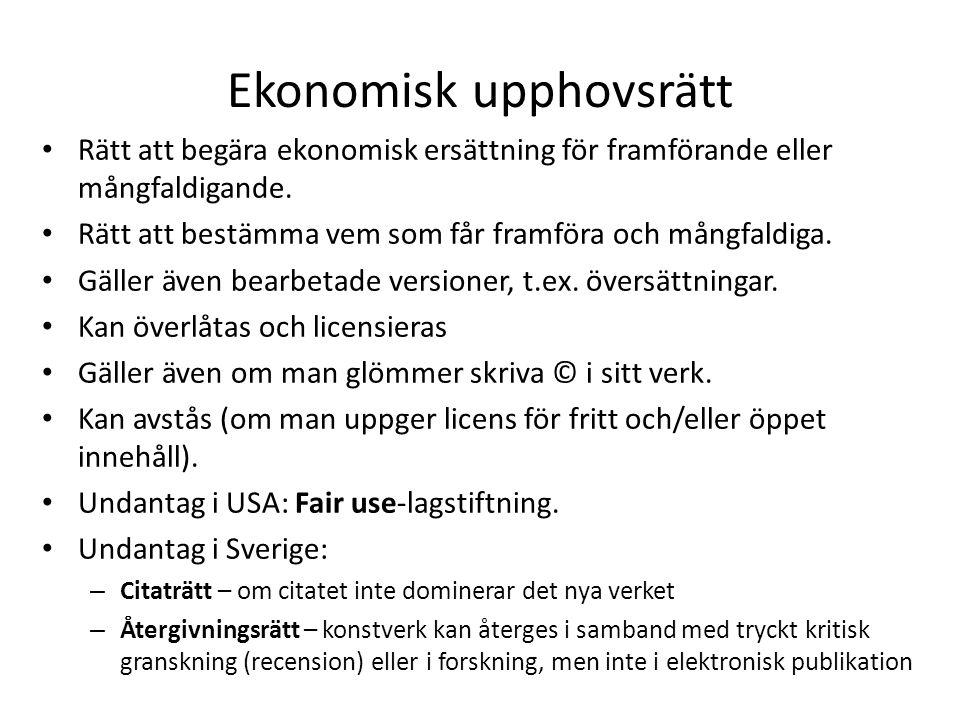Ekonomisk upphovsrätt