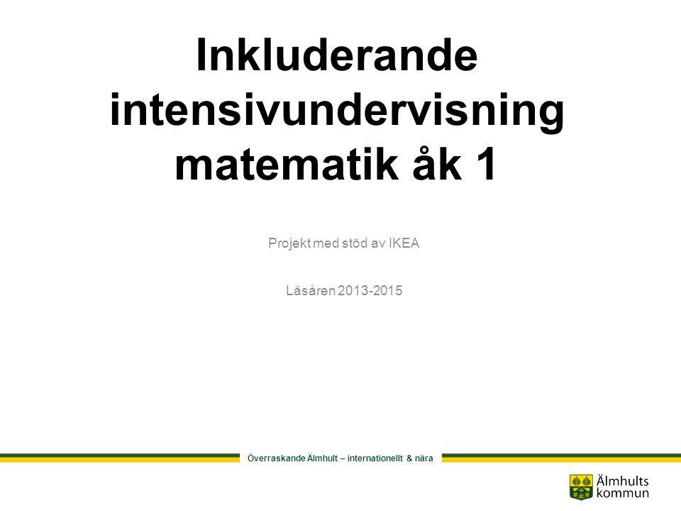 Inkluderande intensivundervisning matematik åk 1