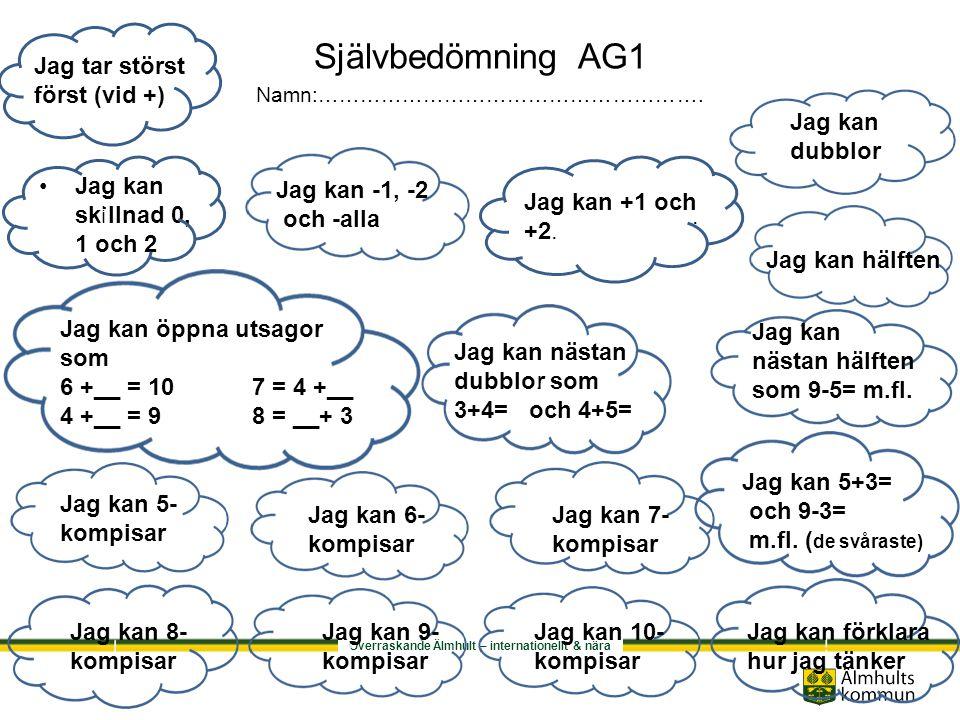 Självbedömning AG1 Namn:……………………………………………….