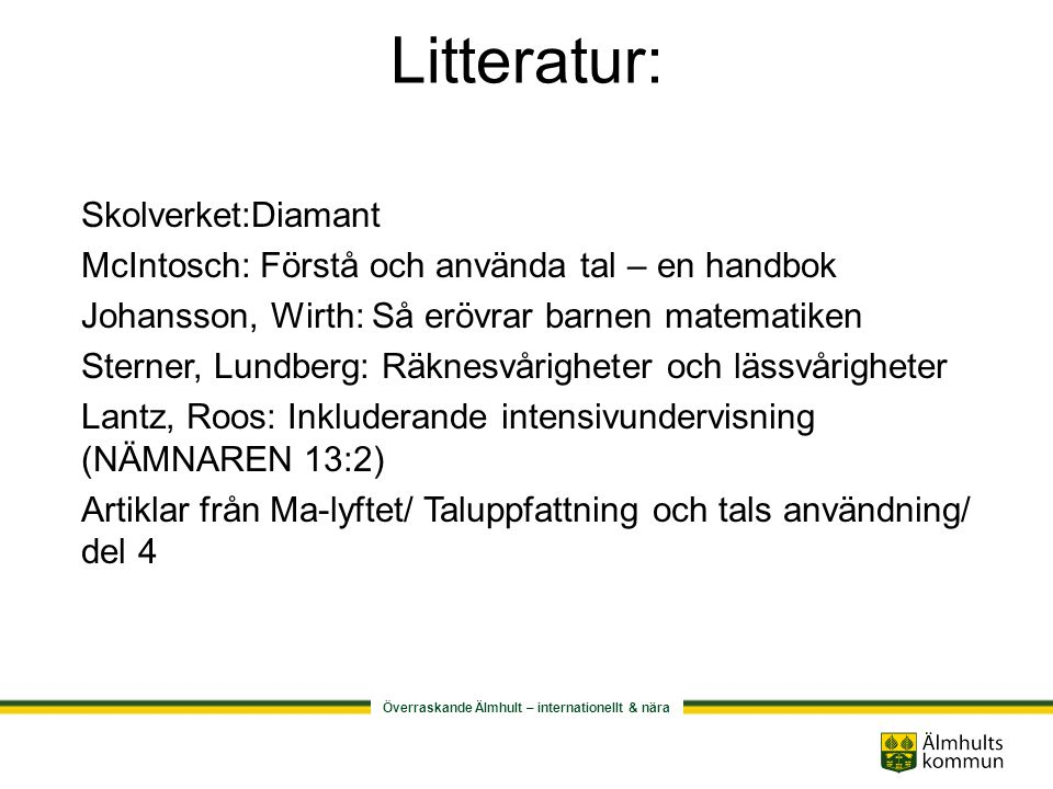 Litteratur: Skolverket:Diamant