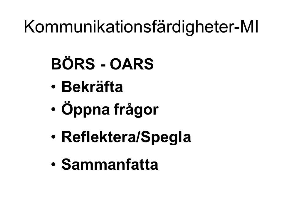 Kommunikationsfärdigheter-MI