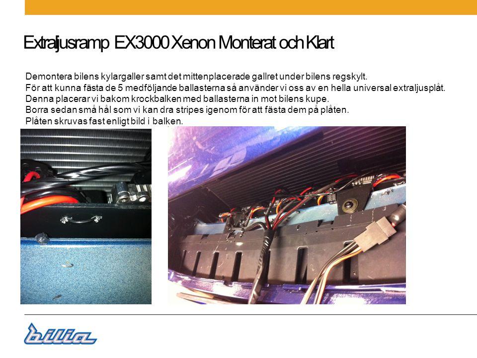 Extraljusramp EX3000 Xenon Monterat och Klart