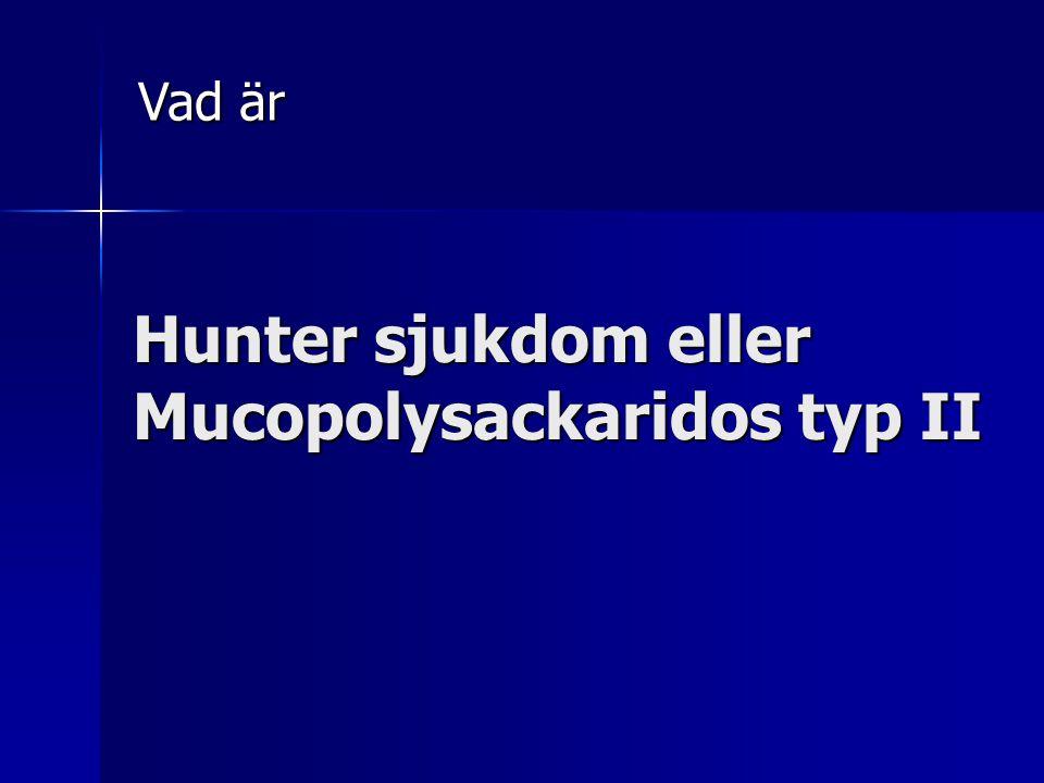 Hunter sjukdom eller Mucopolysackaridos typ II