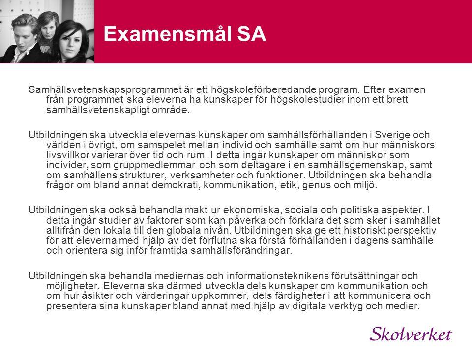 Examensmål SA