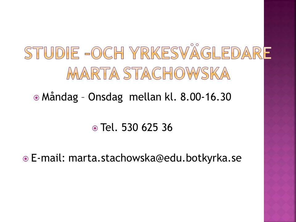 Studie –och yrkesvägledare Marta Stachowska