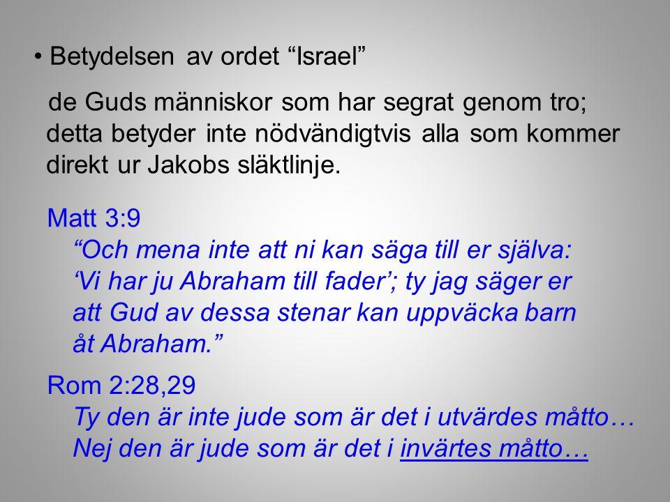 • Betydelsen av ordet Israel