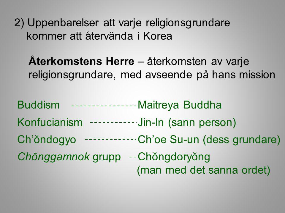 2) Uppenbarelser att varje religionsgrundare