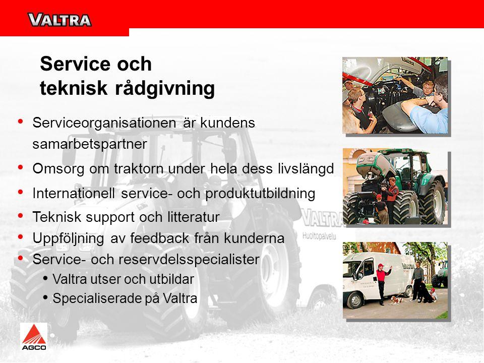 Service och teknisk rådgivning