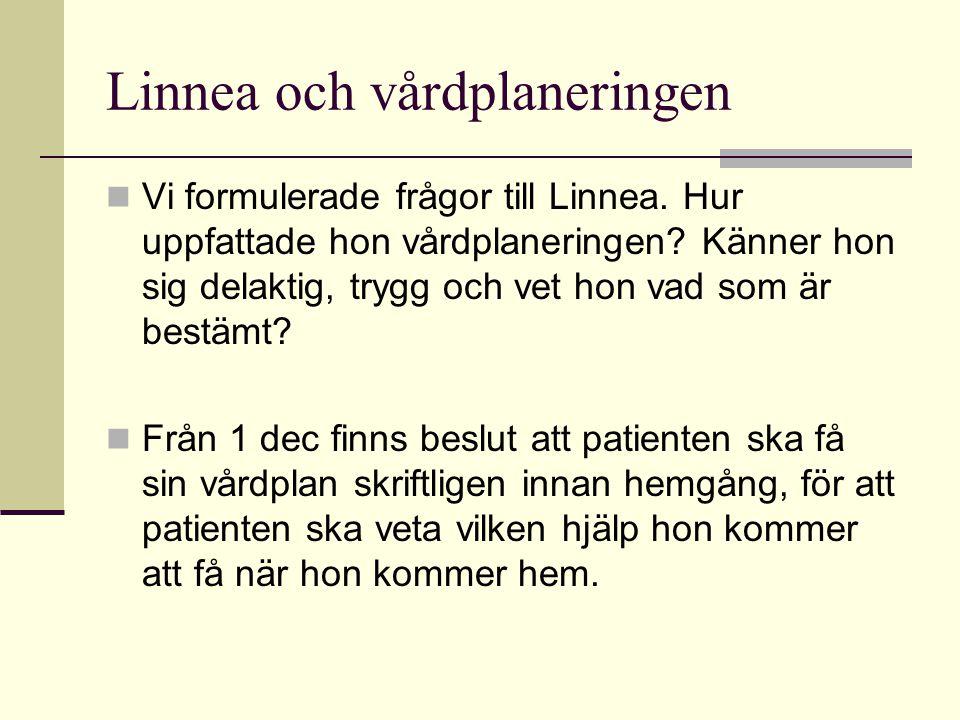 Linnea och vårdplaneringen