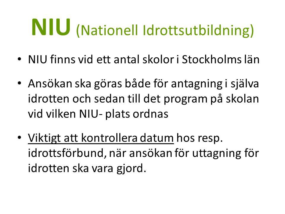 NIU (Nationell Idrottsutbildning)