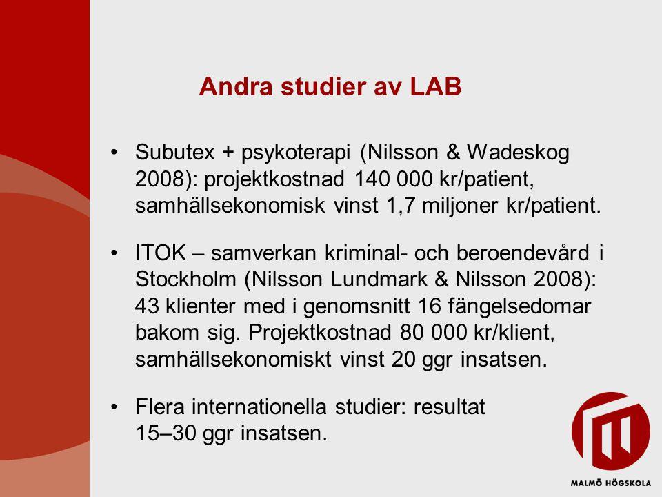 Andra studier av LAB