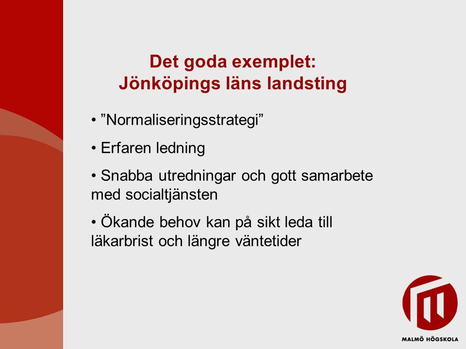 Det goda exemplet: Jönköpings läns landsting