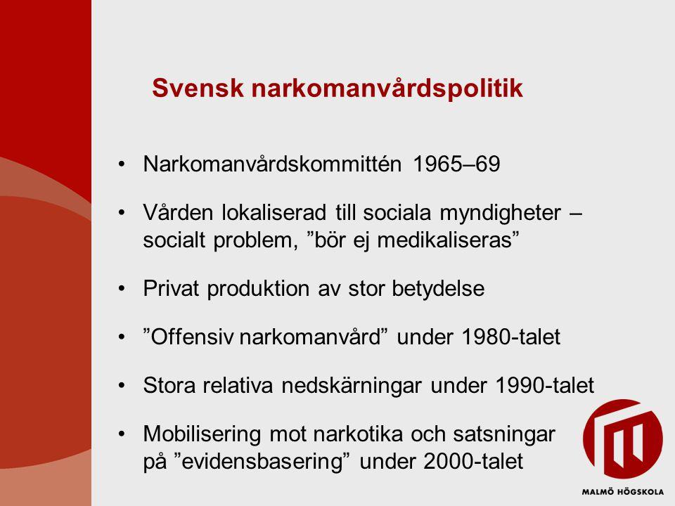 Svensk narkomanvårdspolitik