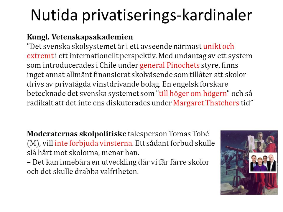 Nutida privatiserings-kardinaler
