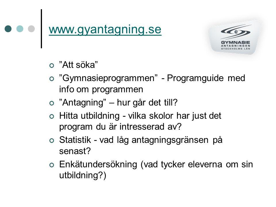 www.gyantagning.se Att söka