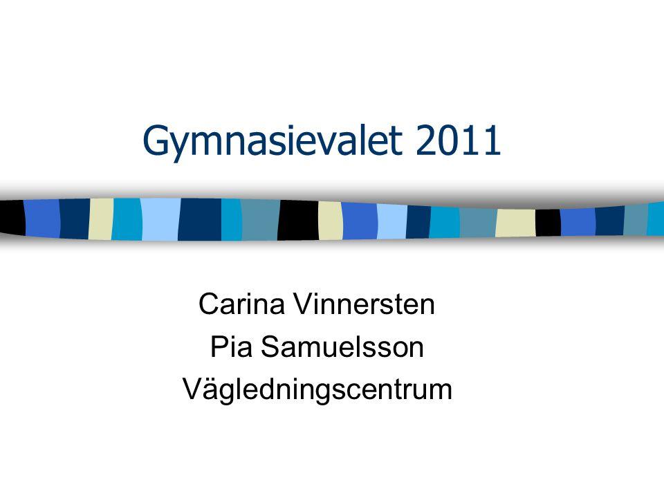 Carina Vinnersten Pia Samuelsson Vägledningscentrum