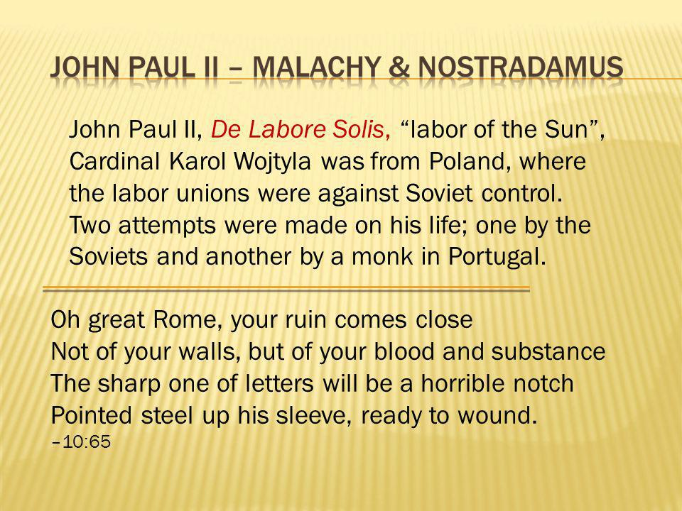 John Paul II, De Labore Solis, labor of the Sun ,