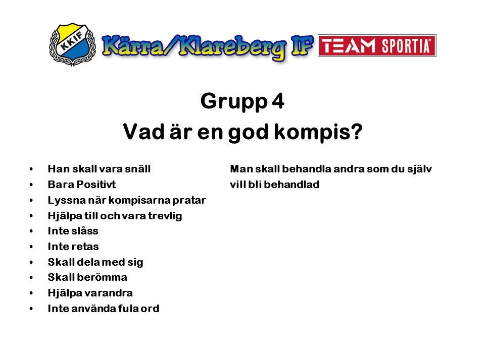 Grupp 4 Vad är en god kompis