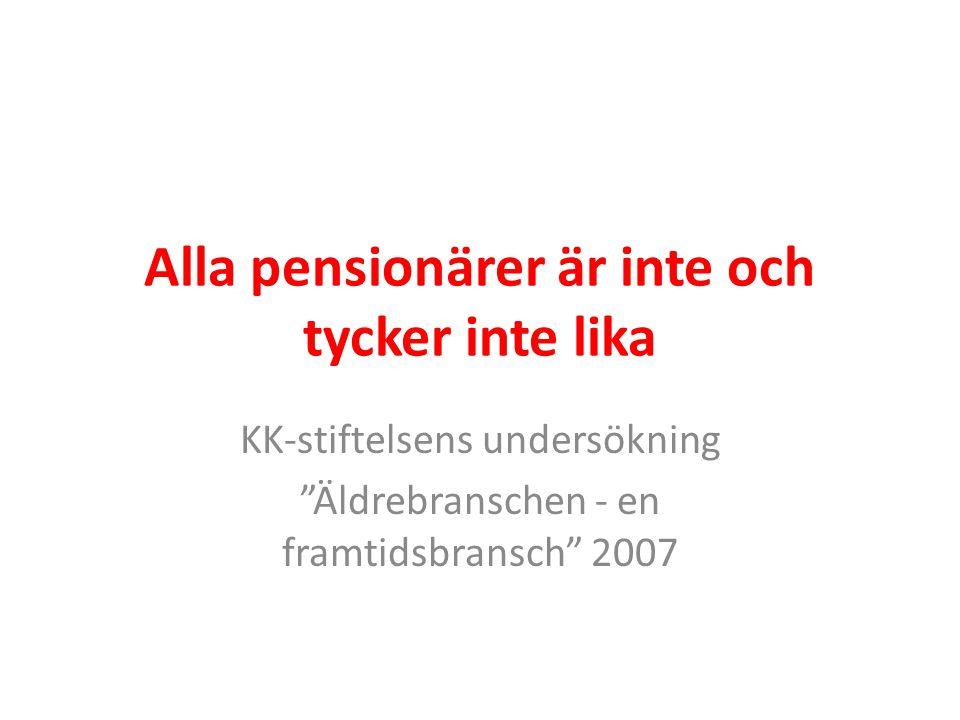 Alla pensionärer är inte och tycker inte lika