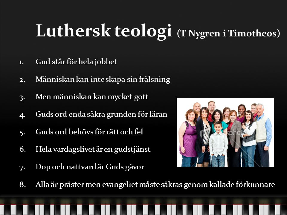 Luthersk teologi (T Nygren i Timotheos)