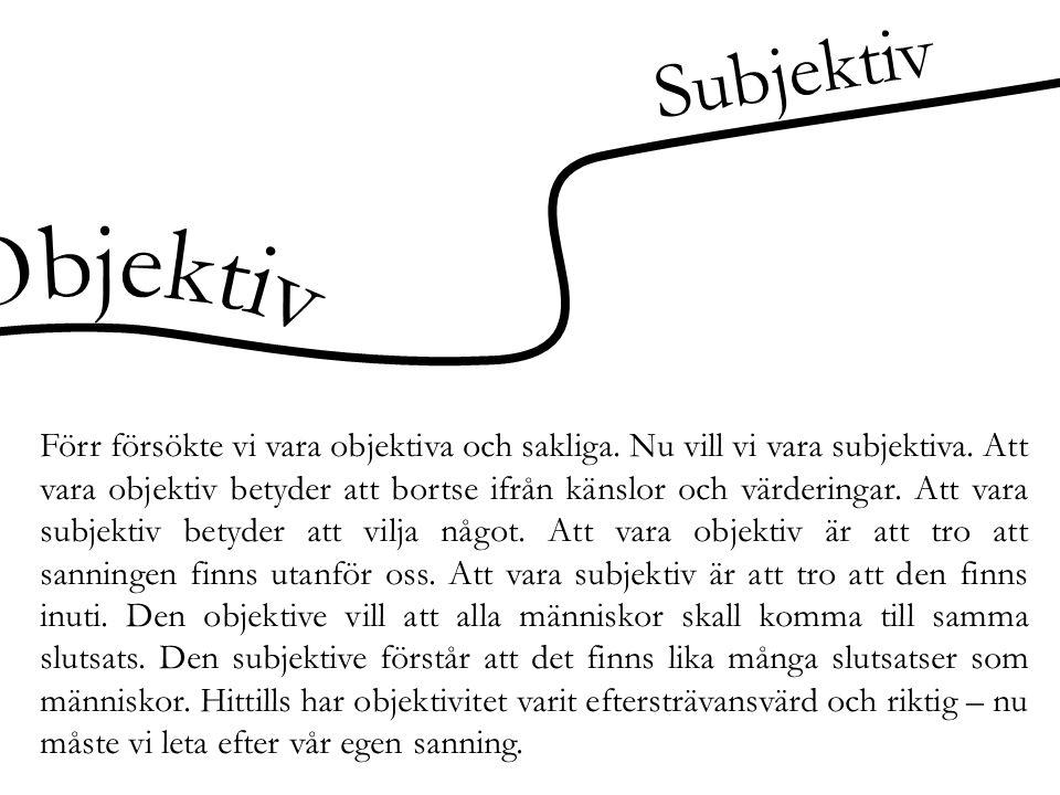 Subjektiv Objektiv.