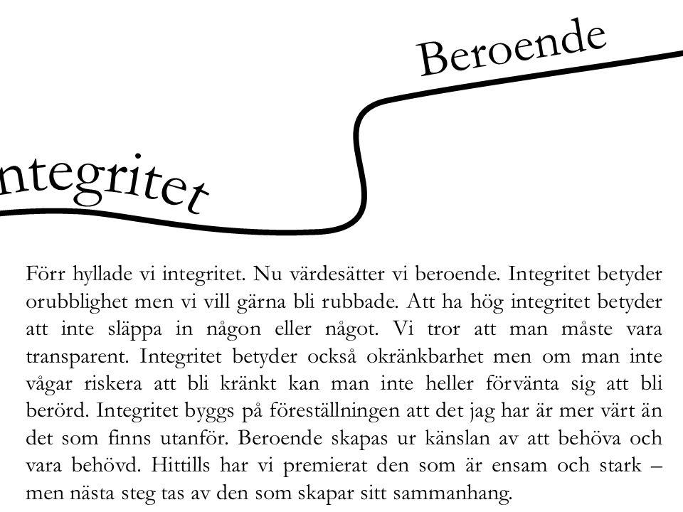 Beroende Integritet.