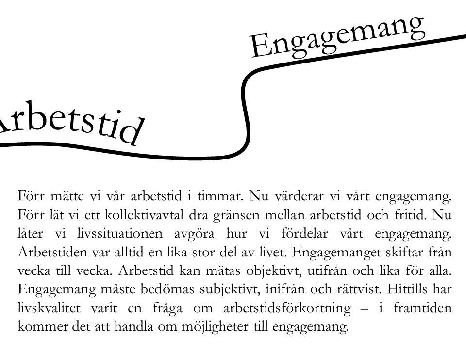 Engagemang Arbetstid.