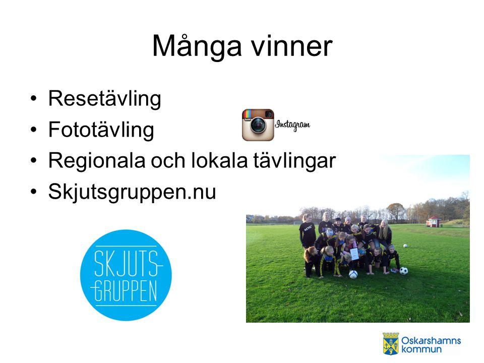 Många vinner Resetävling Fototävling Regionala och lokala tävlingar