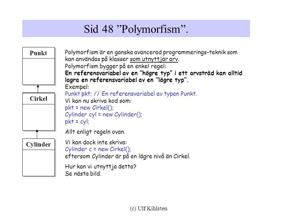 Sid 48 Polymorfism . Punkt Cirkel Cylinder