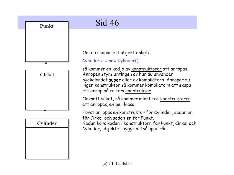 Sid 46 Punkt Cirkel Cylinder Om du skapar ett objekt enligt: