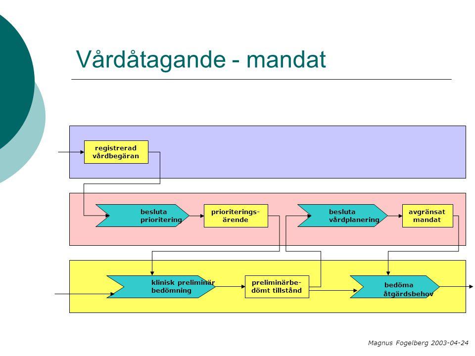 Vårdåtagande - mandat bedöma registrerad vårdbegäran besluta