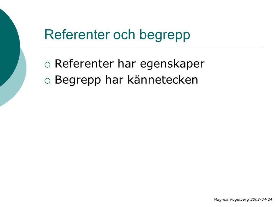 Referenter och begrepp