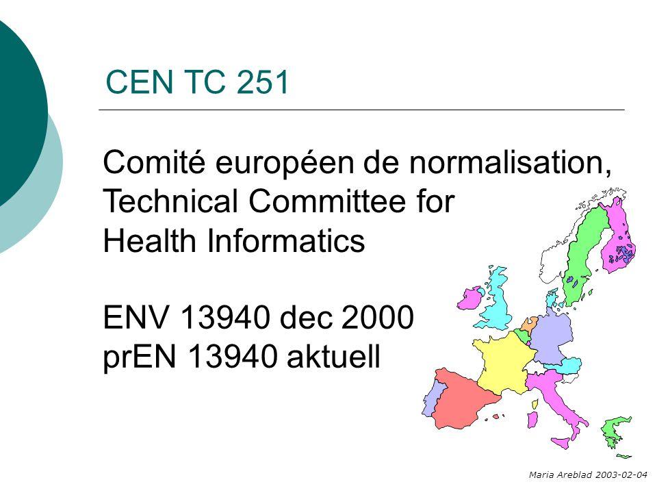 Comité européen de normalisation, Technical Committee for