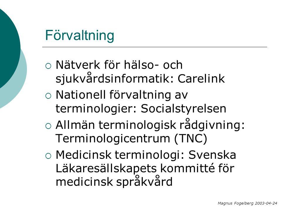 Förvaltning Nätverk för hälso- och sjukvårdsinformatik: Carelink