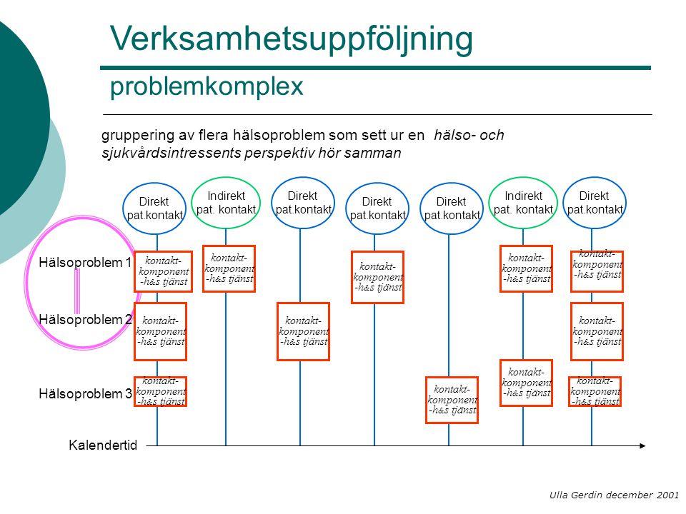 Verksamhetsuppföljning problemkomplex