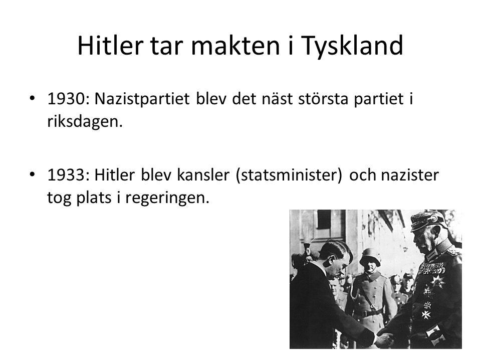 Hitler tar makten i Tyskland
