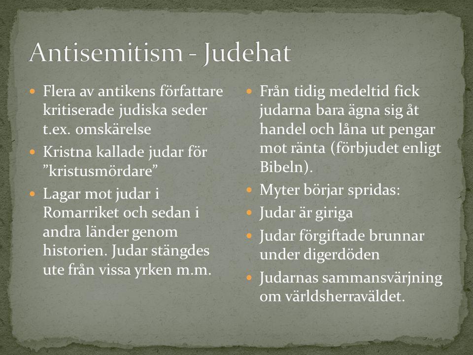 Antisemitism - Judehat
