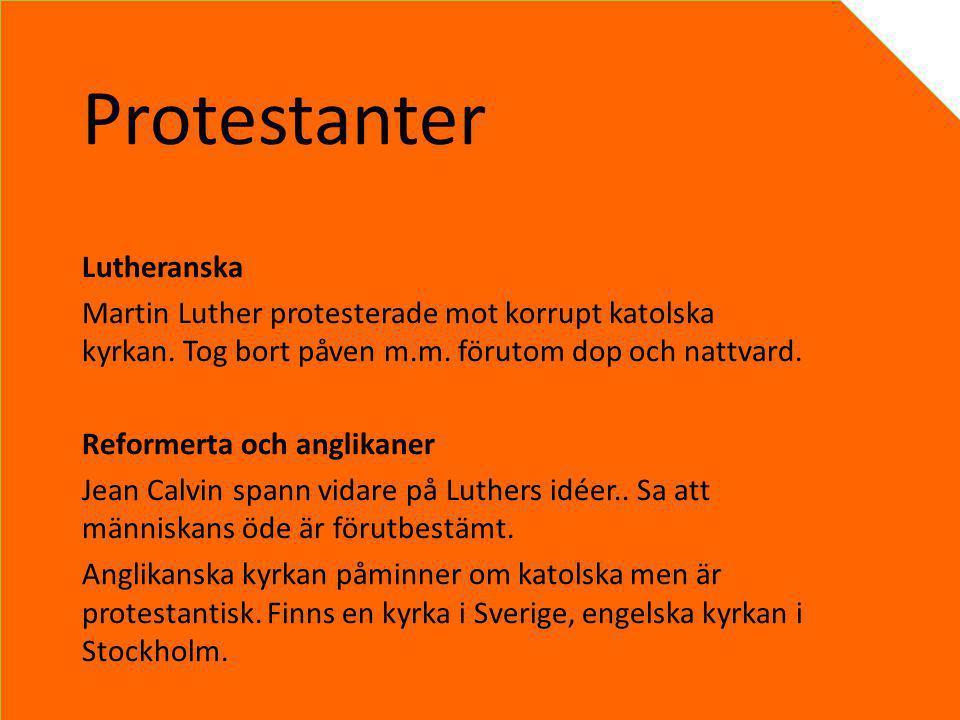 Protestanter Lutheranska