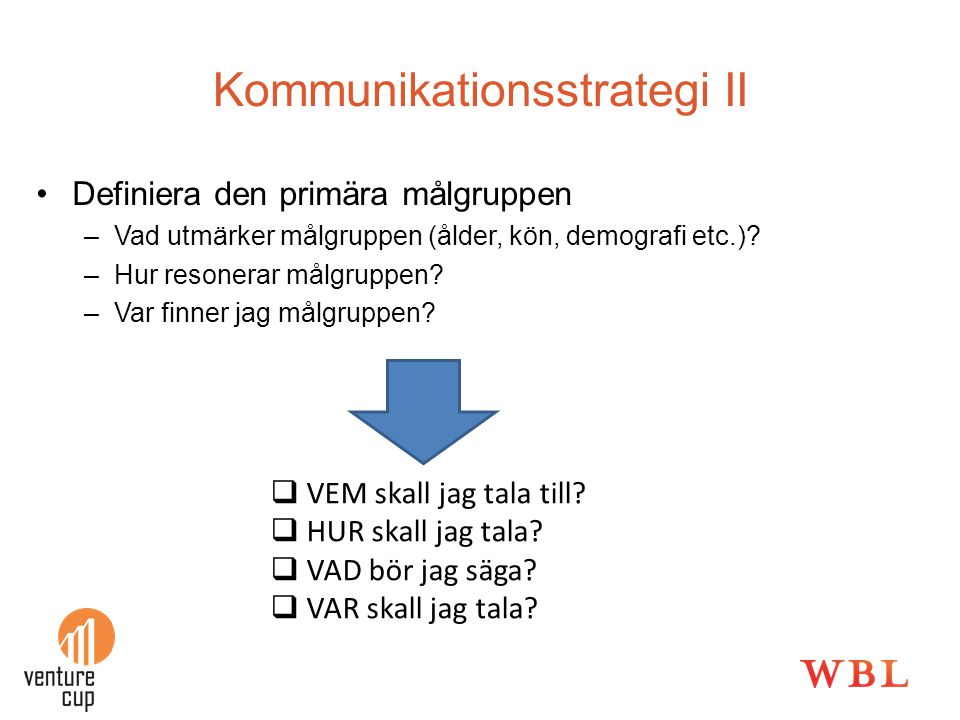 Kommunikationsstrategi II