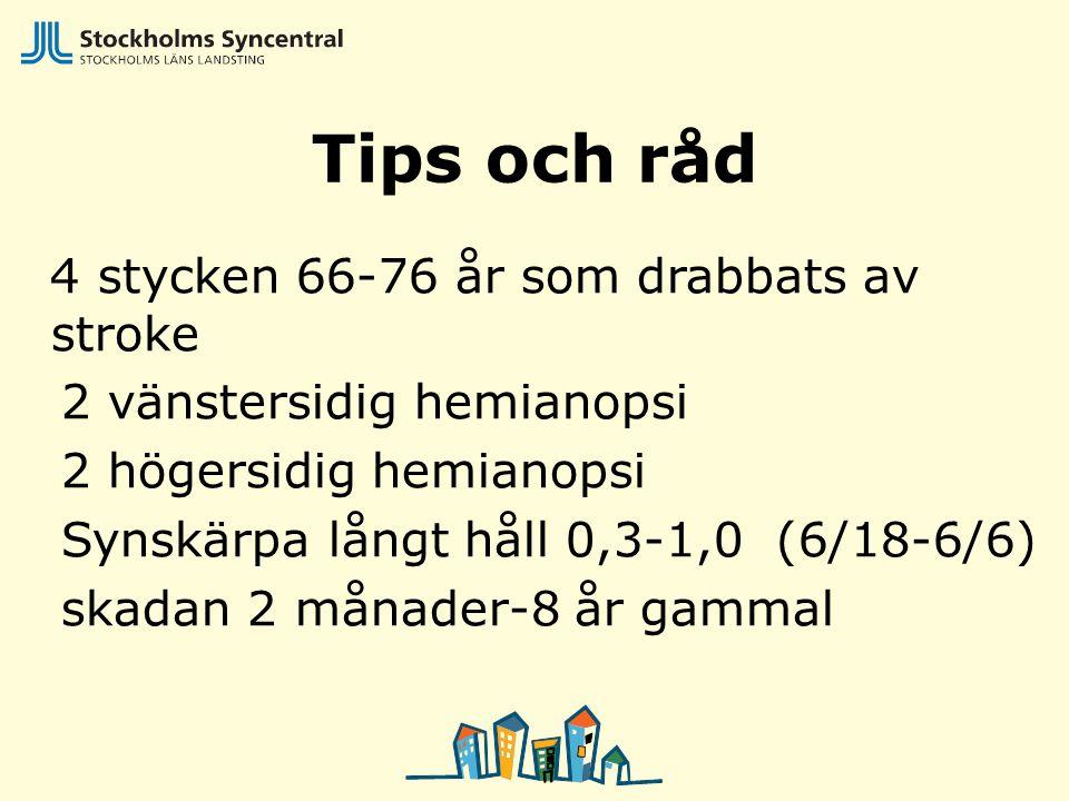 Tips och råd 4 stycken 66-76 år som drabbats av stroke