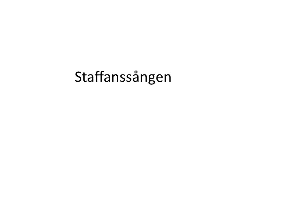 Staffanssången