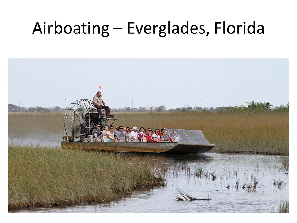 Airboating – Everglades, Florida
