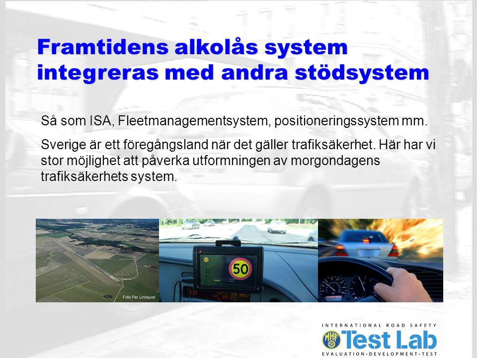 Framtidens alkolås system integreras med andra stödsystem