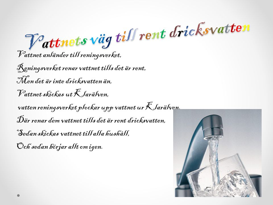 Vattnets väg till rent dricksvatten