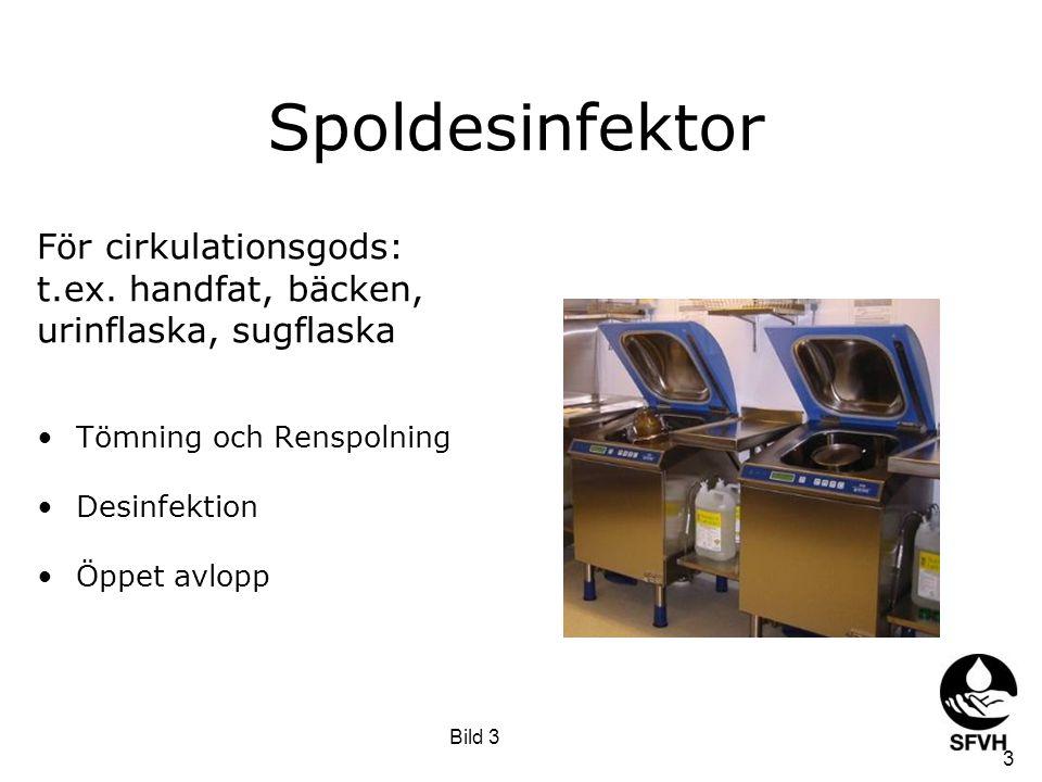 Spoldesinfektor För cirkulationsgods: t.ex. handfat, bäcken,