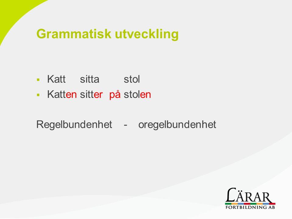 Grammatisk utveckling
