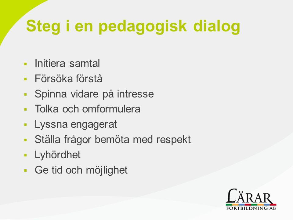 Steg i en pedagogisk dialog