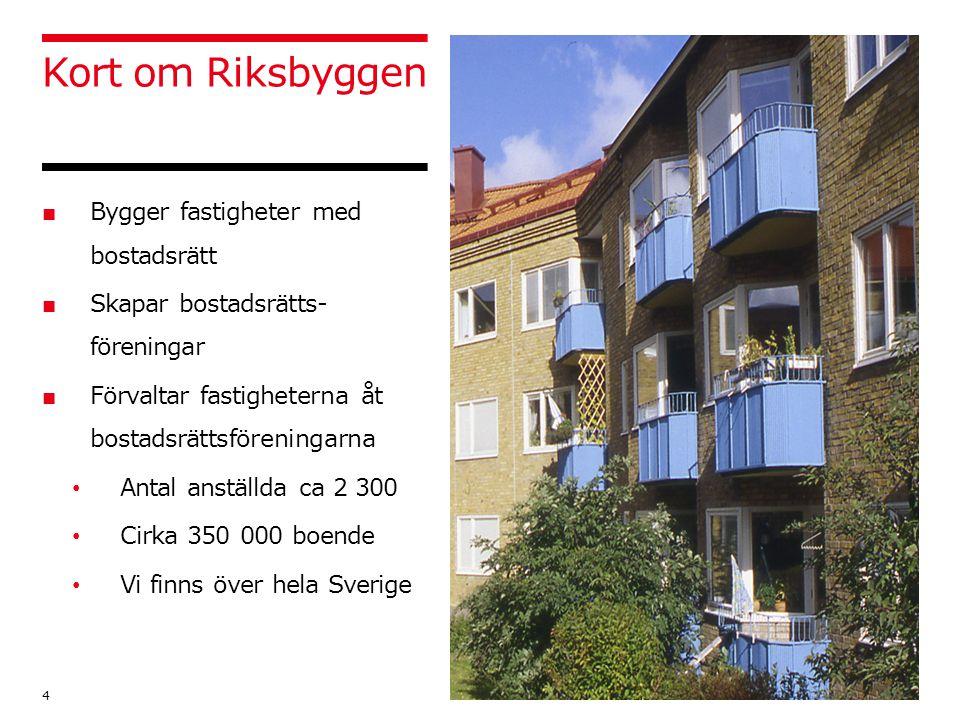 Kort om Riksbyggen Bygger fastigheter med bostadsrätt