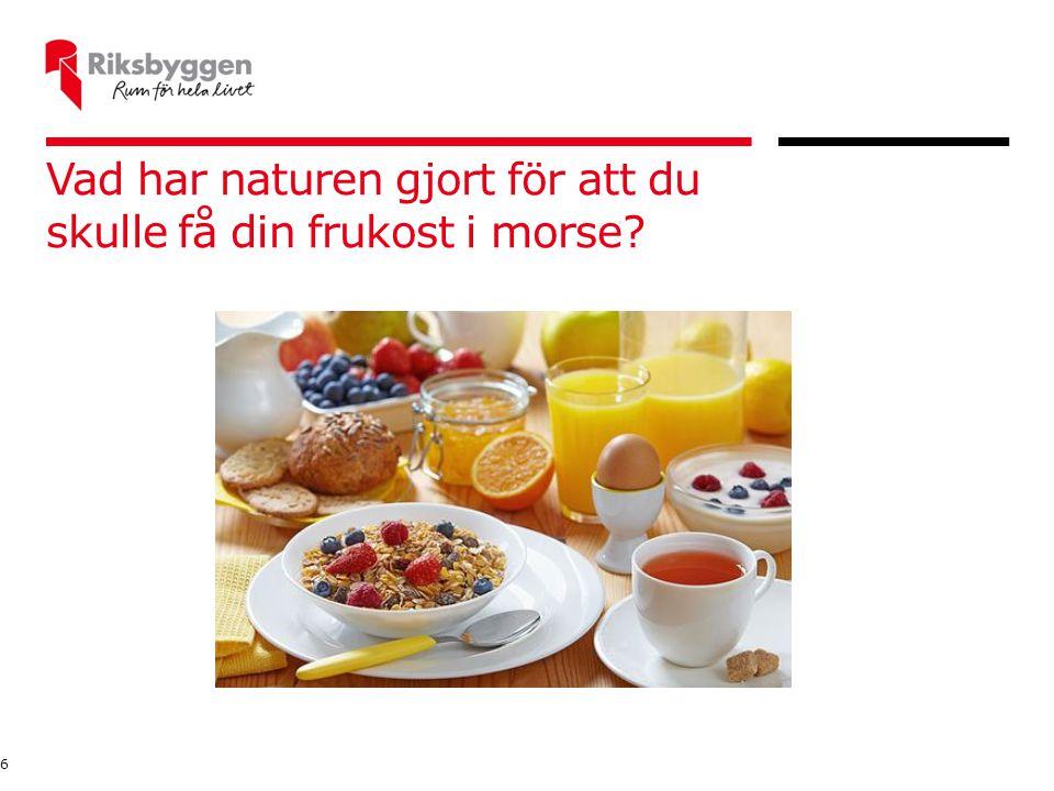 Vad har naturen gjort för att du skulle få din frukost i morse
