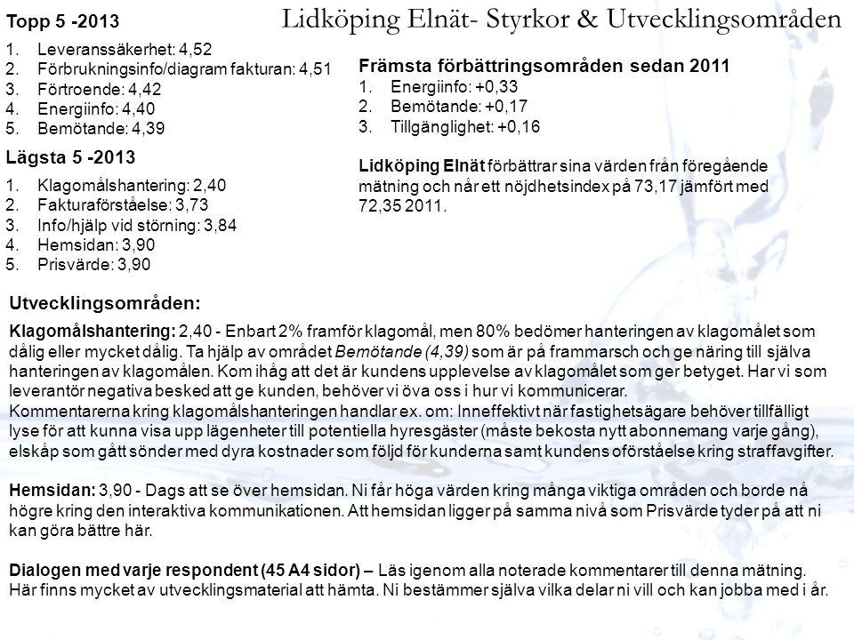 Lidköping Elnät- Styrkor & Utvecklingsområden